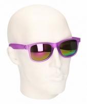 Fuchsia zonnebril met spiegelglas