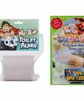 Fun fop pakket toiletpapier wc spuit