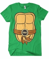 Fun ninja turtles shirt heren