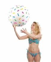 Fun strandbal donut sprinkles 46 cm