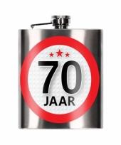 Funcadeau 70 jaar heupfles 200 ml