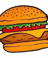 Funny picknickkleed hamburger 150 x 170 cm
