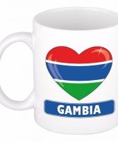 Gambiaanse vlag hart mok beker 300 ml