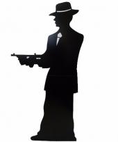 Gangster silhouette decoratie bord