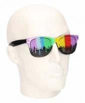 Gay pride zonnebril met regenboog glazen