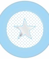 Geboorte eetbordjes blauw 8 stuks