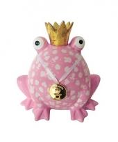 Geboorte spaarpot meisje roze kikker 24 cm