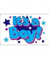 Geboorte vlag jongens 90 x 150 cm