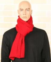 Gebreide winter sjaal rood 176 cm