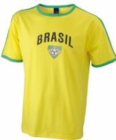 Geel heren shirtje brazilie print