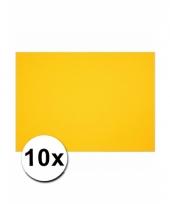 Geel knutsel karton a4 10 stuks