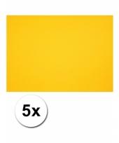 Geel knutsel karton a4 5 stuks