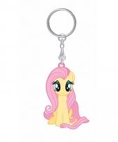 Geel roze fluttershy sleutelhanger my little pony voor kinderen