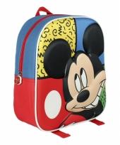 Gekleurd 3d mickey mouse rugtasje