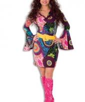 Gekleurd hippie jurkje dames