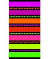Gekleurd paarse streepjes strandlaken 86 x 160