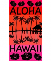 Gekleurd strandlaken aloha 95 100 x 175