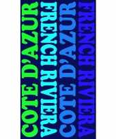 Gekleurd strandlaken cote d azur 95 100 x 175