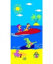Gekleurd strandlaken holidays 70 x 140 cm