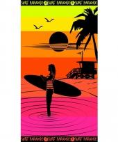Gekleurd strandlaken paradise sunset 95 100 x 175