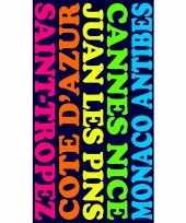 Gekleurd strandlaken plages 95 100 x 175