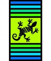 Gekleurd strandlaken sandy gekko 95 100 x 175