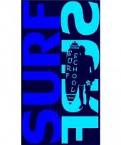 Gekleurd strandlaken surf surf blue 95 100 x 175