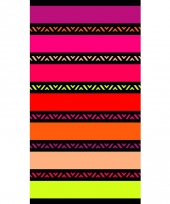 Gekleurd strandlaken twisty chic 95 100 x 175