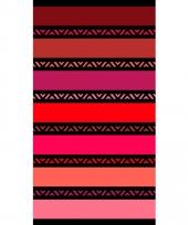 Gekleurd strandlaken twisty coral 95 100 x 175