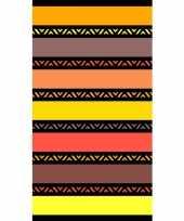 Gekleurd strandlaken twisty safran 95 100 x 175