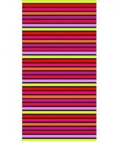 Gekleurd streepjes strandlaken aruba 90 x 170