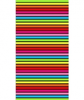 Gekleurd streepjes strandlaken bora bora 90 x 170