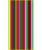 Gekleurd streepjes strandlaken bora bora verticaal 90 x 170