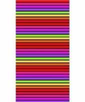 Gekleurd streepjes strandlaken matira 90 x 170