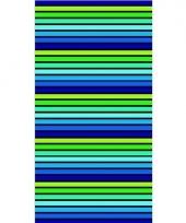 Gekleurd streepjes strandlaken puka 90 x 170