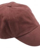 Gekleurde bruine baseballcaps