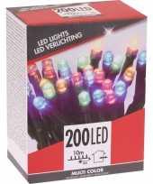 Gekleurde budget boomverlichting binnen en buiten 200 lampjes