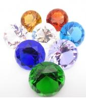 Gekleurde diamanten 4 cm per stuk