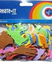 Gekleurde dieren foam 64 stuks