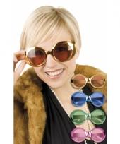 Gekleurde disco bril voor dames
