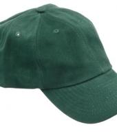 Gekleurde donkergroene baseballcaps