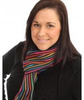 Gekleurde gebreide sjaal
