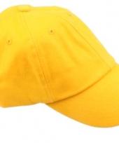 Gekleurde goudgele baseballcaps