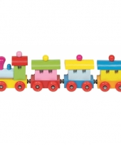 Gekleurde houten locomotief