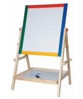 Gekleurde houten schoolbord staand