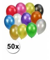 Gekleurde metallic feest ballonnen