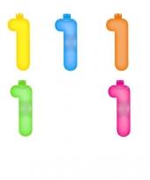 Gekleurde opblaas cijfer 1