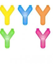 Gekleurde opblaas letters y