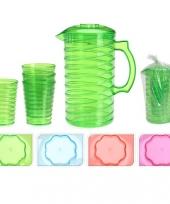 Gekleurde plastic schenkkanset