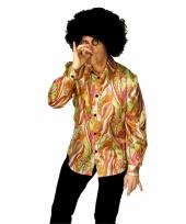 Gekleurde retro blouse voor heren